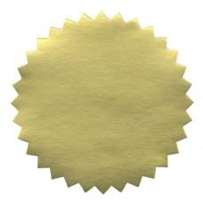 Eticheta aurie pentru timbru sec